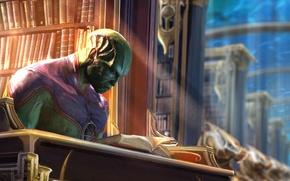 Картинка библиотека, DC Comics, Комиксы, марсианский охотник