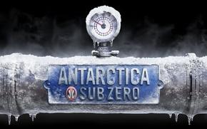 Обои температура, антарктида, труба