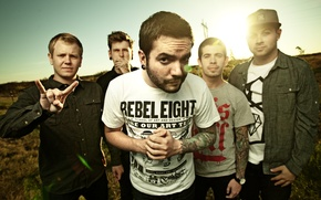 Обои a day to remember, поле, музыка, группа