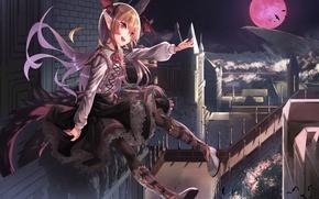 Обои девушка, anime, art, saraki, shingeki no bahamut, granblue fantasy, vampy