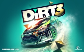 Обои dirt, rally, ралли, dirt3, Colin McRae Rally