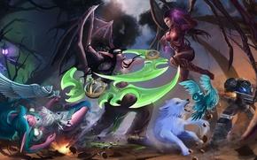 Картинка starcraft, Warcraft, diablo, Jim Raynor, Sylvanas, Heroes of the Storm, illidan stormrage