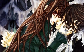 Картинка Vampire Knight, Couple, Yuki Cross, Kuran Kaname