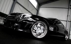 Обои Mercedes, тюнинг, черный