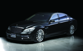 Картинка Mercedes-Benz, black, w221
