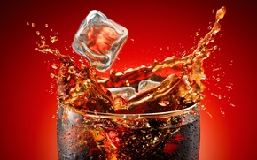 Обои yoram aschheim, Coca-Cola, лёд