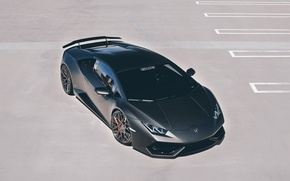 Картинка GMG, Lamborghini, black, car, supercar, Huracan, wallpaper