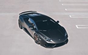 Картинка car, Lamborghini, wallpaper, supercar, black, Huracan, GMG