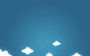 Картинка небо, облака, минимализм