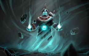 Картинка камни, магия, арт, Dota 2, Storm Spirit