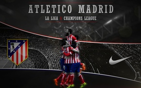 Картинка wallpaper, logo, Nike, football, Spain, Atletico Madrid