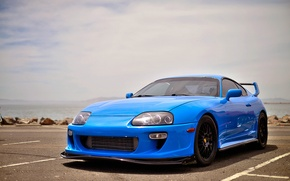 Картинка wheels, supra, black, toyota, blue