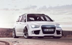 Картинка Audi, белая, универсал, RS4, Avant