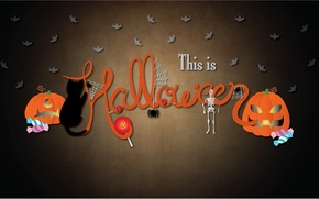 Обои праздник, тыквы, Halloween, Хэллоуин, 2560x1440