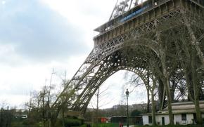 Картинка Франция, Париж, Paris, France, Eiffel Tower, architecture, Ейфелева Башня