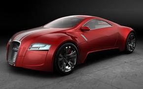 Обои красный, Concept, Audi