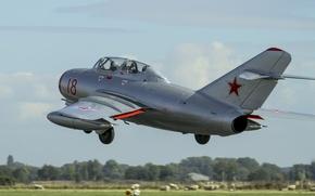 Картинка полет, истребитель, советский, МиГ-15