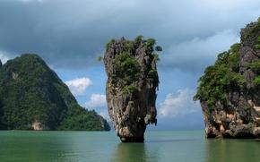 Картинка скалы, Тайланд, Phuket, Thailand, Пхукет, Phang Nga Bay, залив Пхангнга, James Bond Island, Khao Phing …