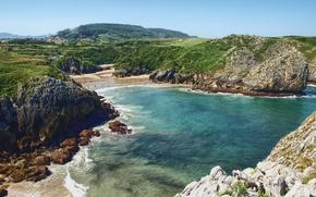 Обои побережье, испания, море, пейзаж