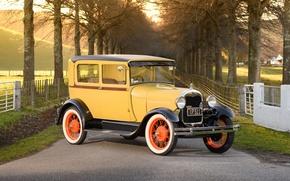 Картинка ретро, Ford, классика, Tudor, 1928 Ford Model A Tudor