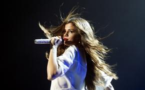 Картинка девушка, микрофон, певица, селена гомез, Selena Gomez
