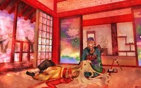 Картинка арт, парни, Kusuriuri Dark, Mononoke, Kusuriuri
