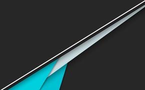 Картинка белый, линии, голубой, черный, Android, material, фон полоски