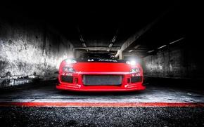 Картинка Light, Mazda, Red, Drift, Car, RX-7
