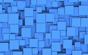 Обои квадраты, тени, слои