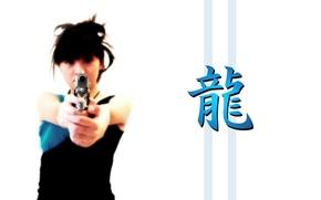 Картинка белый, оружие, фон, японка, азия
