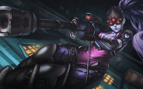 Картинка Game, Blizzard Entertainment, Overwatch, Widowmaker
