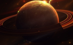 Картинка свет, планеты, кольца