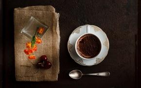 Картинка шоколад, ложка, чашка