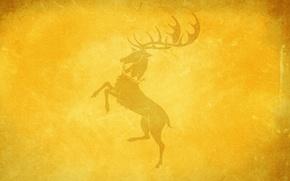 Обои олень, игра престолов, game of thrones, House Baratheon