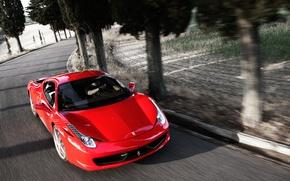 Обои ferrari, 458, italia, авто, спорткар, дорога