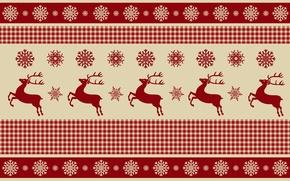 Картинка снежинки, рождество, олени