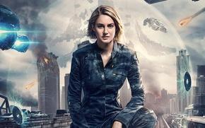 Обои постер, Shailene Woodley, глава 3: За стеной, The Divergent Series: Allegiant, Шейлин Вудли, Дивергент, фантастика