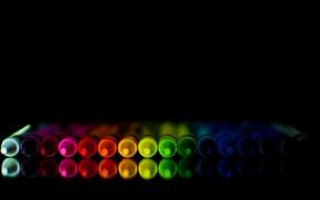 Картинка отражение, цвет, карандаш
