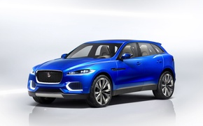 Картинка car, Jaguar, blue, cross, Jaguar cx17