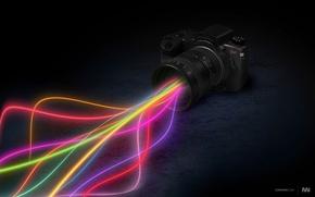 Картинка лучи, цвет, Фотоаппарат