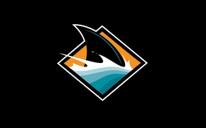 Картинка акула, хоккей, San Jose Sharks, плавник