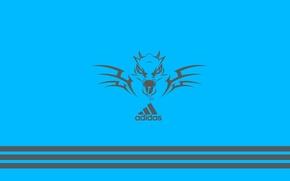 Картинка Adidas, адидас, значок, фирма