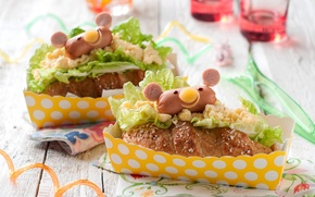Картинка булочка, хот-дог, сыр, фастфуд, салат, сосиска, выпечка, baking, Fast food