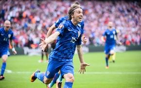 Картинка футбол, Хорватия, football, Лука Модрич, Чемпионат Европы 2016
