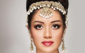Картинка девушка, портрет, макияж, индианка