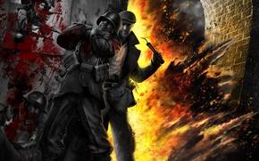 Обои война, партизаны, взрыв