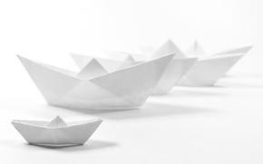 Картинка бумага, фон, кораблики, Ghost Fleet