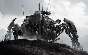 Картинка робот, паук, art, наемник, mech
