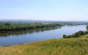 Картинка река, берег, томь