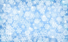 Обои зима, снег, снежинки